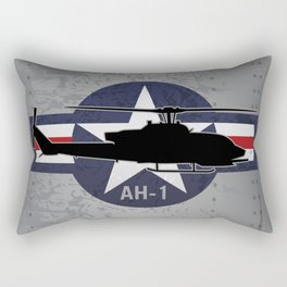 AH-1 Cobra Helicopter Rectangular Pillow