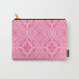 BOHEMIAN PALACE, ORNATE DAMASK: POODLE PINK Carry-All Pouch