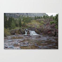 Redrock Falls - Glacier National Park Canvas Print