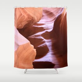 Antelope Colors Abstract Sandstone Waves Shower Curtain