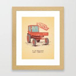 T 16 Framed Art Print