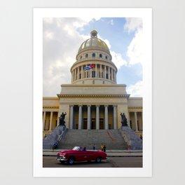 El Capitolio de La Habana Art Print