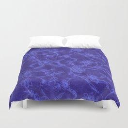 Flower Pattern (Blue version) Duvet Cover