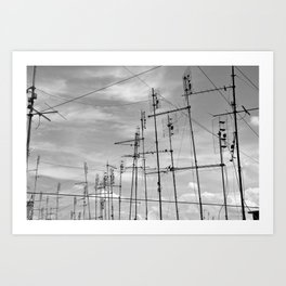 Le antenne di Roma Art Print