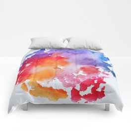 Vivid - abstract painting with pink, purple, red, orange, blue colors that pop Comforters