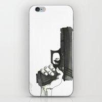 gun iPhone & iPod Skins featuring GUN by Takeru Amano