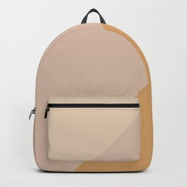 Warm Neutral Color Block Backpack