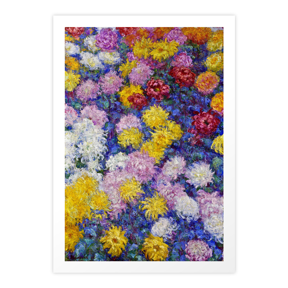Claude Monet - Chrysanthemums Art Print by fineartpaintings