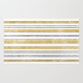 Sun Kissed Stripes: Silver and Gold Rug