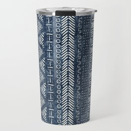 Mud Cloth Stripe Travel Mug