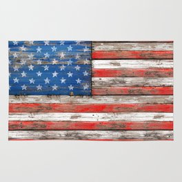 USA Vintage Wood Rug