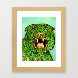 Green Tiger Fangs Framed Art Print
