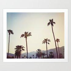 Palm Trees in the Desert Art Print