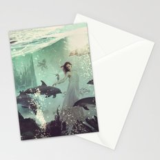 The Sea Unicorn Lady Stationery Cards