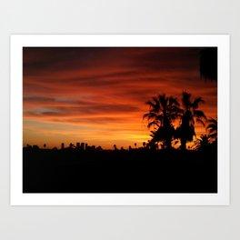 Orange Hollywood Art Print