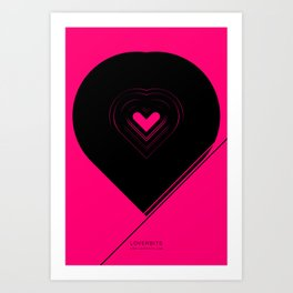 CRYPTIC HIPSTER HEART. Art Print
