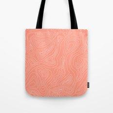 Ocean depth map - coral Tote Bag