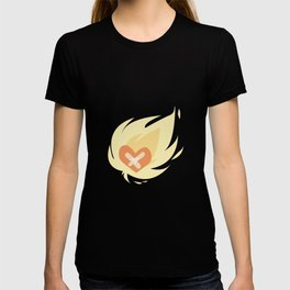 Burning wounded heart T-shirt