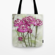 Pink Flowers in the Mist Tote Bag