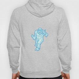 Yeti or Abominable Snowman Mono Line Hoody