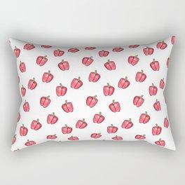 Red Pepper Watercolour Pattern Rectangular Pillow