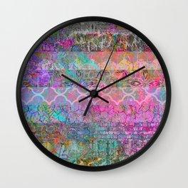 Pastel Boho Grunge Wall Clock