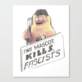 This Mascot Kills Fascists Canvas Print