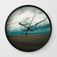montana Wall Clocks featuring Montana Sky by Emerald Shatto