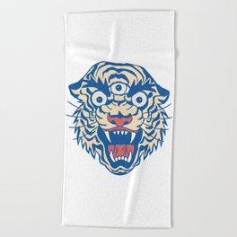 Third Eye Tiger Flash Beach Towel
