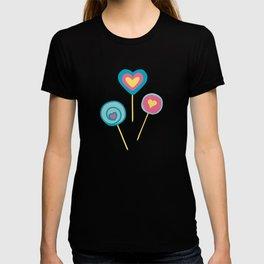 Yellow lollipops sweet love T-shirt