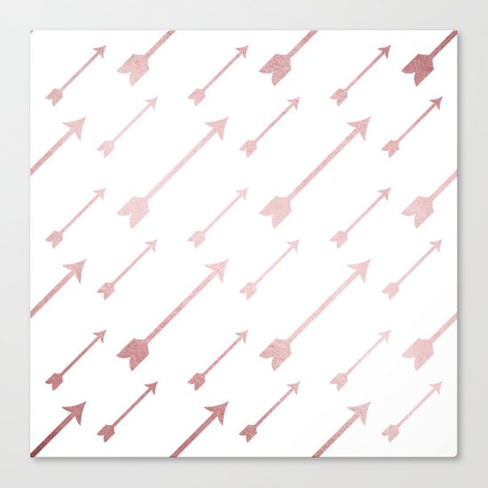 Simply Adventure Arrows in Rose Gold Sunset Canvas Print