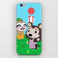 animal crossing iPhone & iPod Skins featuring Animal Crossing by Alex Owen