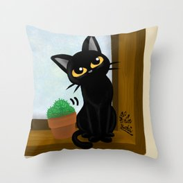 At the window side Throw Pillow