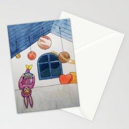 Planetas en el techo Stationery Cards
