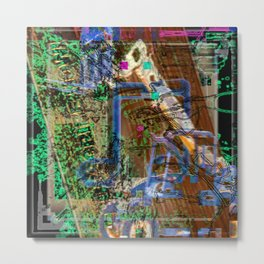 Fuechure Muesick With Glitch Monkees Metal Print