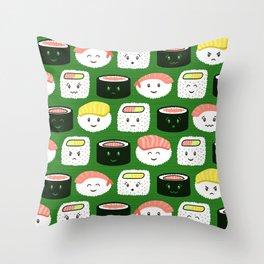 Yatta, Sushi! Throw Pillow