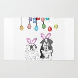 Happy Easter - Bulldog Bunnies Rug