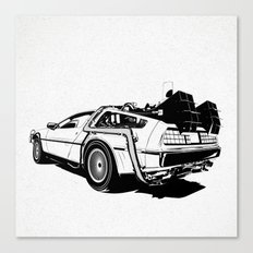 DeLorean / BW Canvas Print