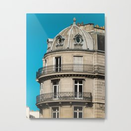 Parisian building architecture Metal Print