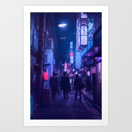 Tokyo Nights / One Minute To Midnight / Liam Wong Art Print
