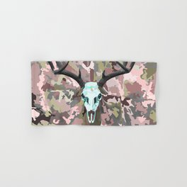Camouflage Deer Collage Hand & Bath Towel