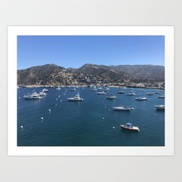 Boats at Catalina Island Art Print