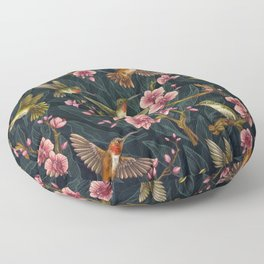 Hummingbird Pattern Floor Pillow