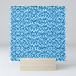 Blue Sea Waves Mini Art Print