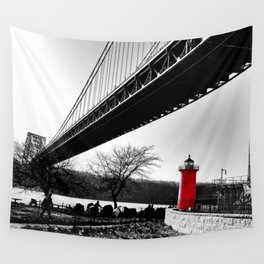 The Little Red Lighthouse - George Washington Bridge NYC Wall Tapestry