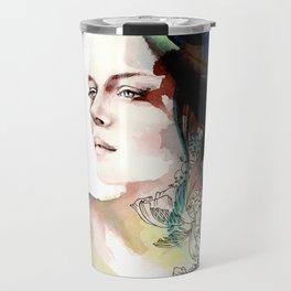 blossoming tattoos Travel Mug