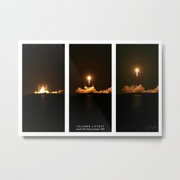 SpaceX Night Launch Metal Print