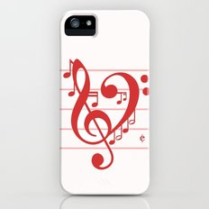 Love Music ~ Valentines Edition ~ Slim Case iPhone (5, 5s)