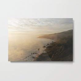 Muir Beach Overlook Fog Metal Print