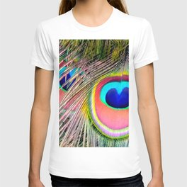 Peacock Tail Feathers T-shirt